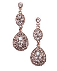 Givenchy | Pink Pear Shaped Linear Drop Earrings | Lyst