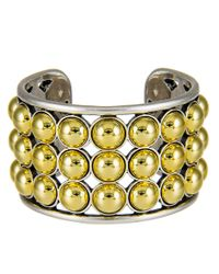 Giles & Brother - Metallic Two-Toned Ball Cuff Bracelet - Lyst