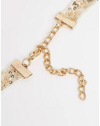 ASOS | Metallic Pack Of 2 Glitter Ribbon Choker Necklaces | Lyst
