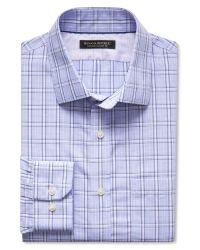 Banana Republic | Blue Classic-fit Non-iron Check Shirt for Men | Lyst
