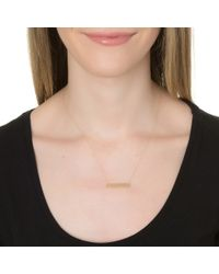 Ginette NY | Metallic Mini Baguette Necklace, Gold | Lyst