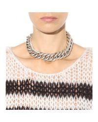 Saint Laurent | Metallic Chain Necklace | Lyst