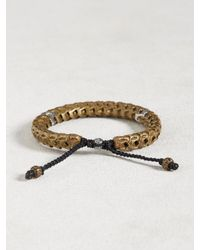 John Varvatos - Metallic Brass Snake Bone Vertebrae Bracelet for Men - Lyst