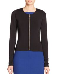Jason Wu | Black Zip-front Cardigan | Lyst