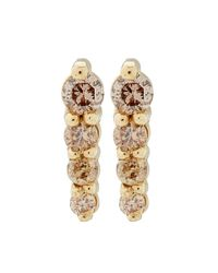 Anna Sheffield - Metallic Gold Pave Pointe Stud Earrings - Lyst