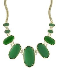 Kendra Scott | Green Ginger Bib Necklace | Lyst