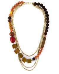 Wouters & Hendrix - Metallic Bead And Chain Necklace - Lyst