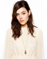 ASOS - Metallic Exclusive For Asos Articulated Bear Necklace - Lyst