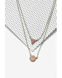 Nasty Gal | Metallic Take Shape Layered Necklace | Lyst