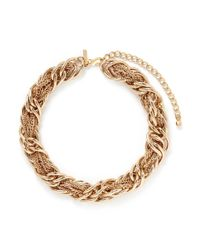 Kenneth Jay Lane | Metallic Mix Chain Link Necklace | Lyst
