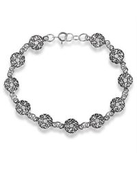 Aeravida - Metallic Celtic Knot Donut Link .925 Sterling Silver Eternity Bracelet - Lyst