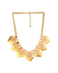 Forever 21 | Pink Glam Faux Stone Dagger Necklace | Lyst