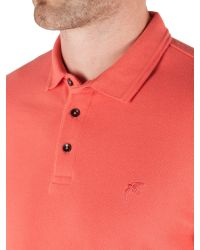Racing Green | Pink Ilkley Plain Pique Polo for Men | Lyst