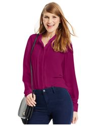 Robert Rodriguez | Purple Button-front Blouse | Lyst