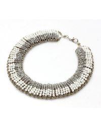 Nakamol - Multicolor Secretorial Necklace-white/grey - Lyst