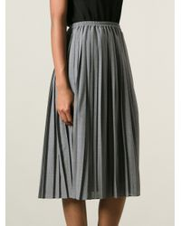 09564b56a8 Michael Kors Pleated Aline Skirt in Gray - Lyst