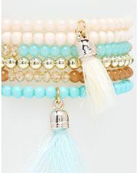 Ashiana | Multicolor Multi Strand Friendship Bracelet With Tassel | Lyst