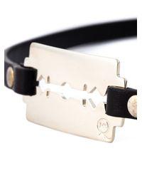 McQ | Black Razor Blade Triple Wrap Bracelet | Lyst