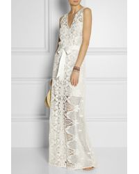 Miguelina scallop lace maxi dress