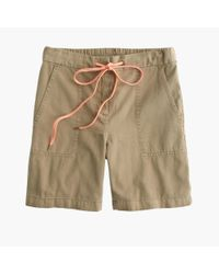 J.Crew | Natural Drapey Cargo Short | Lyst