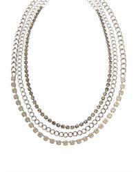 Max Mara - Metallic Saletta Necklace - Lyst