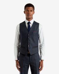 Ted Baker | Blue Havaen Button Blazer for Men | Lyst