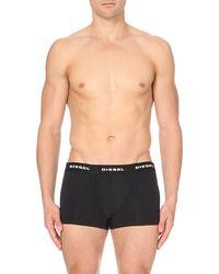 DIESEL | Metallic Branded Trunks, Men's, Size: S, Black for Men | Lyst