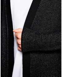ASOS - Black Super Longline Cardigan for Men - Lyst