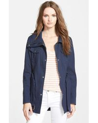 Guess | Blue Belted Utility Jacket | Lyst