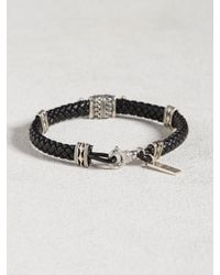 John Varvatos | Metallic Braided Cuff With Silver Detail for Men | Lyst