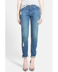 James Jeans | Blue Slim Slouchy Boyfriend Fit Jeans | Lyst