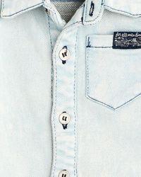 7 For All Mankind - Blue Boy's 0-9m Roll-cuff Shortall In Sunbleach - Lyst