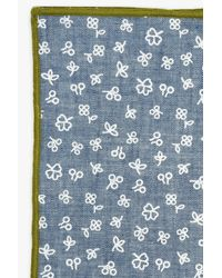 7 For All Mankind - Blue Pocket Square Clothing The Quinn Pocket Square In Light Chambray for Men - Lyst