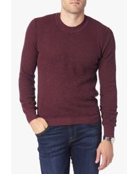 7 For All Mankind | Purple Crewneck Sweater In Burgundy for Men | Lyst