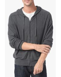 7 For All Mankind | Gray Zipper Hoodie In Grey for Men | Lyst