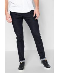 7 For All Mankind Blue Luxe Performance Paxtyn Skinny In Deep Well for men