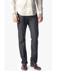 7 For All Mankind Gray Carsen Easy Straight In Dark And Clean for men