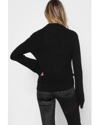 7 For All Mankind - Long Sleeve Lace Up Pullover In Black - Lyst