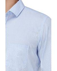7 For All Mankind - Shirt Striped White/light Blue for Men - Lyst