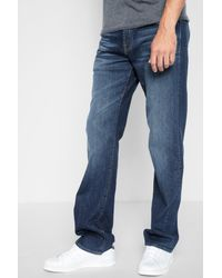 7 For All Mankind - Blue Austyn With Squiggle And Split Seam In Dimension for Men - Lyst