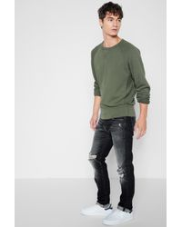 7 For All Mankind - Multicolor Paxtyn Skinny With Raw Flip Up Hem In Blowout for Men - Lyst