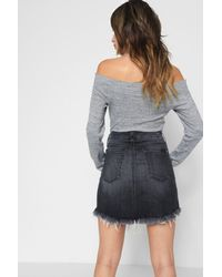 7 For All Mankind | Mini Skirt Vintage Bedford Black | Lyst