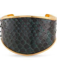 Marni - Black Leather Python Bangle - For Women - Lyst