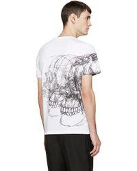 Alexander McQueen - White Best Skulls T-shirt for Men - Lyst