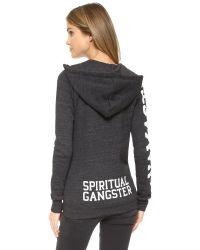 Spiritual Gangster | Black Namaste Zip Hoodie | Lyst