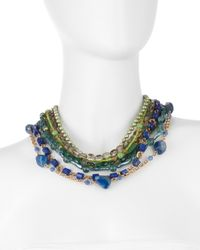 Stephen Dweck - Green Multi-Strand Mixed Stone And Pearl Necklace - Lyst