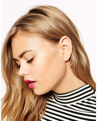 ASOS - Metallic Anchor Swing Earrings - Lyst