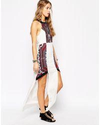 MINKPINK - Multicolor Pastel Neon Printed Maxi Dress - Lyst
