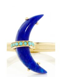 Andrea Fohrman - Blue Lapis Crescent Ring With Sleeping Beauty Turquoise - Lyst