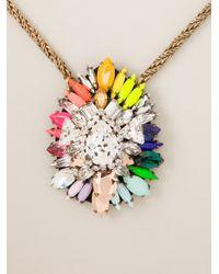 Shourouk | Metallic Hindi Rainbow Necklace | Lyst